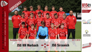 U15 C1: Vorbericht ~ JFV Hunsrückhöhe Morbach – JSG Sirzenich ~ Sa., 02.11.19 15:15 Uhr