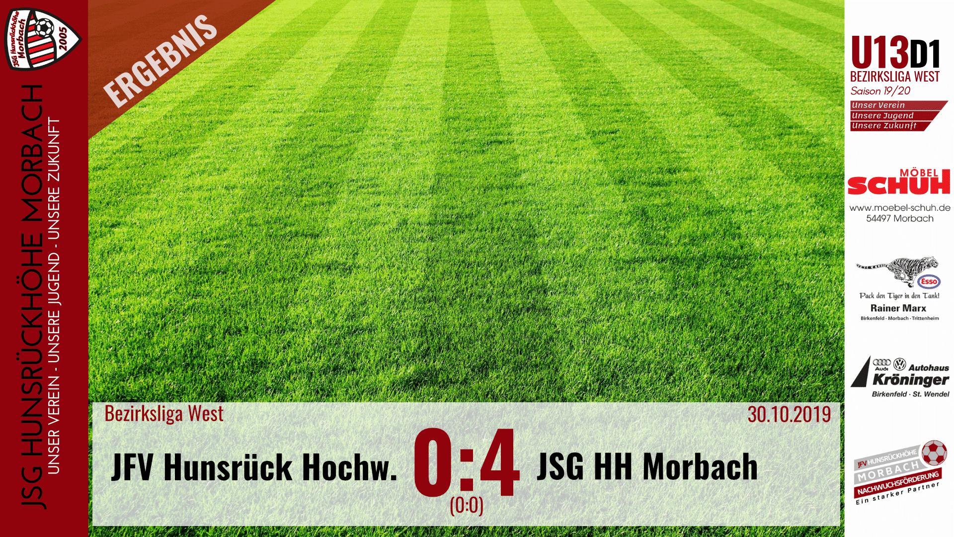 U13 D1: JFV Hunsrück-Hochwald – JSG Hunsrückhöhe Morbach 0:4 (0:0)