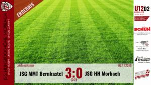 U12 D2: JSG Mittelmoseltal Bernkastel – JSG Hunsrückhöhe Morbach 3:0 (2:0)