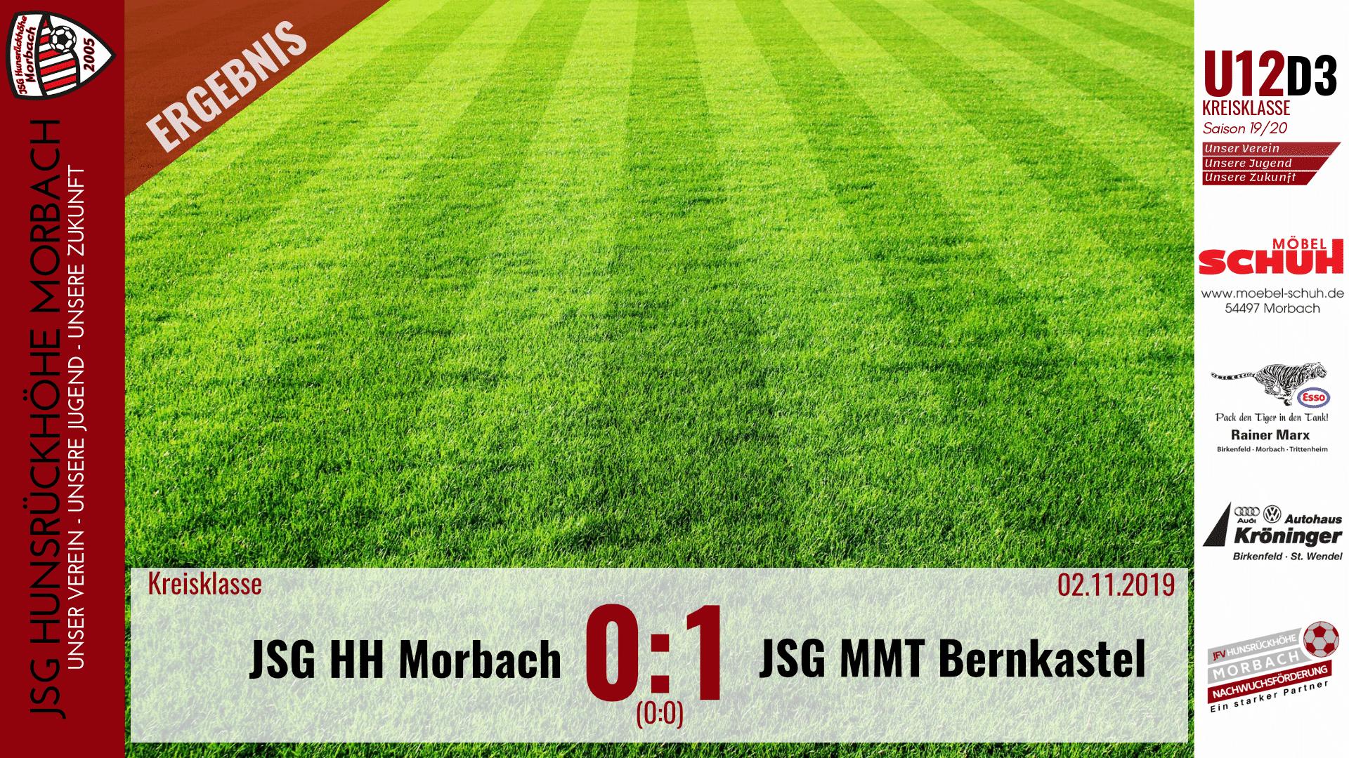 U12 D3: JSG Hunsrückhöhe Morbach – JSG Mittelmoseltal Bernkastel 0:1 (0:0)