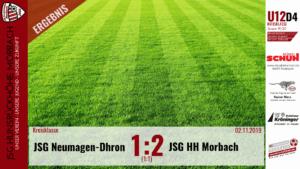 U12 D4: JSG Neumagen-Dhron – JSG Hunsrückhöhe Morbach 1:2 (1:1)