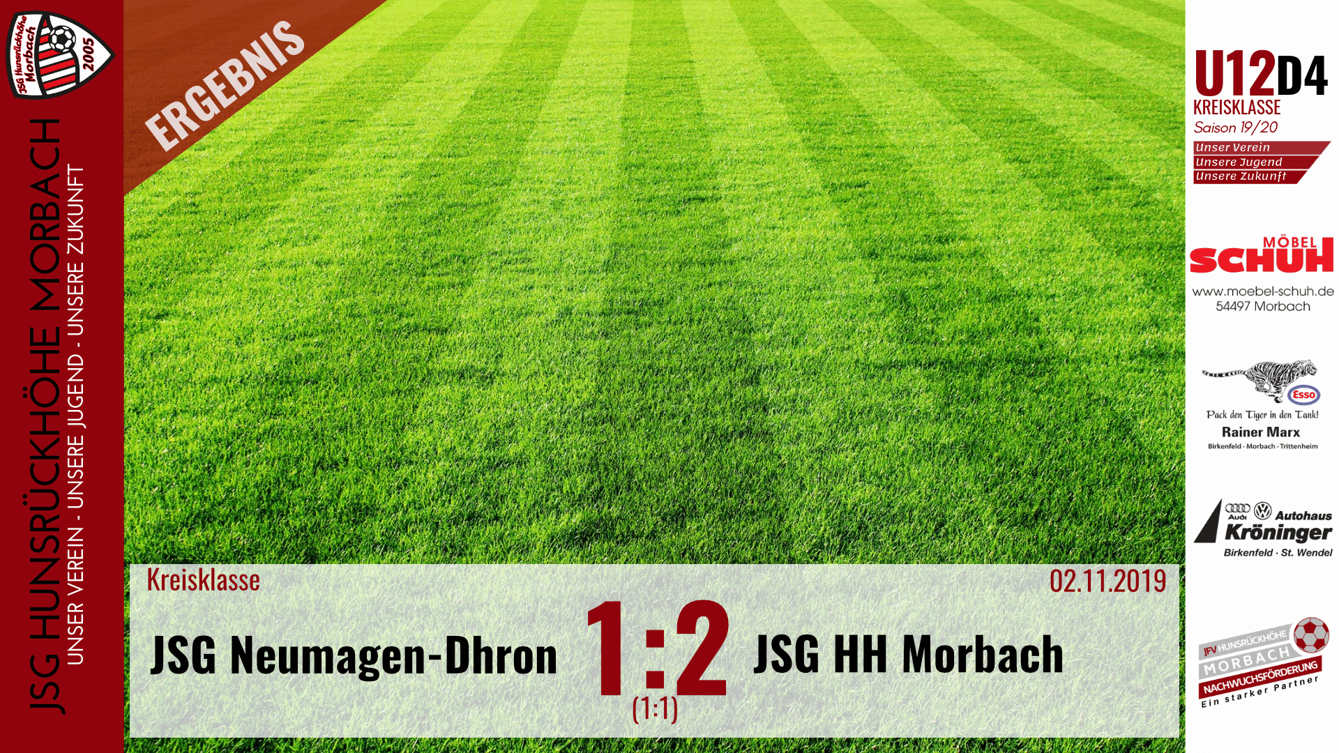 You are currently viewing U12 D4: JSG Neumagen-Dhron – JSG Hunsrückhöhe Morbach 1:2 (1:1)